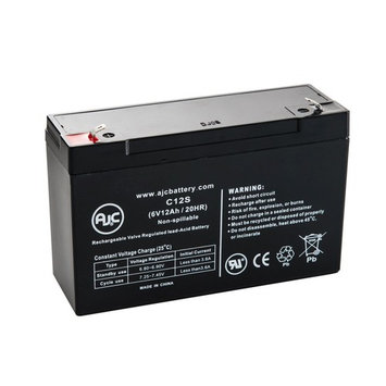 Baxter Healthcare UBAT007MC2 6V 12Ah Medical Battery - This is an AJC Brand® Replacement