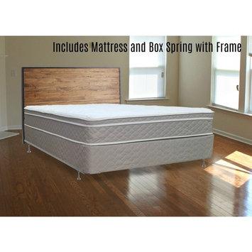 Continental Sleep, 10-inch Pillow top Fully Assembled EUROTOP Innerspring Medium Plush Mattress and 8