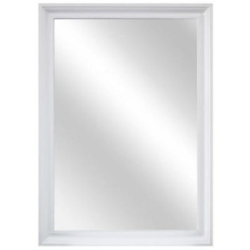 Home Decorators Collection 29 in. W x 40 in. L Framed Fog Free Wall Mirror in White