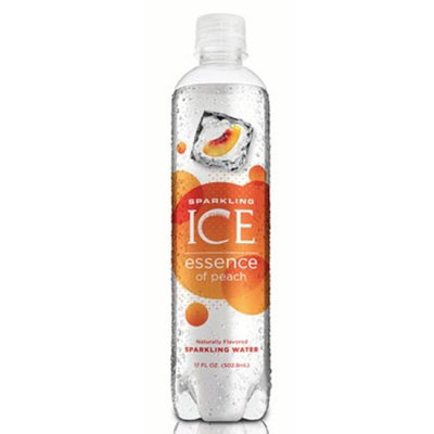 Talkingrain Beverage Co. Sparkling Ice Essence Naturally Flavored Sparkling Water, Peach, 17 Fl Oz, 12 Count