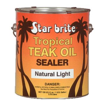 Star Brite Tropical Teak Oil Sealer - No Drip, Splatter-Free Formula [128 oz Gallon]