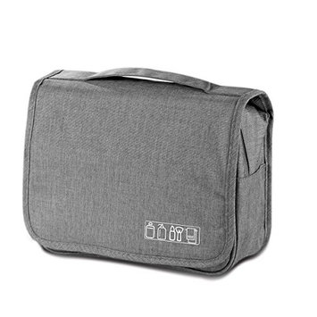 Travel Hanging Toiletry Bag-Toiletry Kit-Bathroom Storage Bag-Shower Bag-Large Traveling Cosmetic Makeup bag for Men and Wome(Gray)