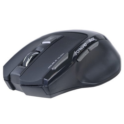 Heritagetravelware 2.4GHz Wireless USB 6 Button Optical Gaming Scroll Mouse 2000 dpi - Black