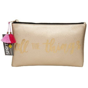 Gold Print Cosmetic Pouch - Spritz153; G