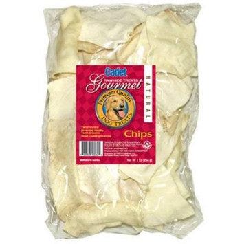 IMS TRADING CORP Gourmet Dog Treats, Rawhide Chips, Natural, 1-Lb.