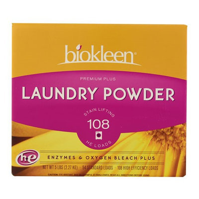 Biokleen Laundry Powder Premium Plus Stain Lifting Enzyme Formula - 5 lbs - HSG-245977