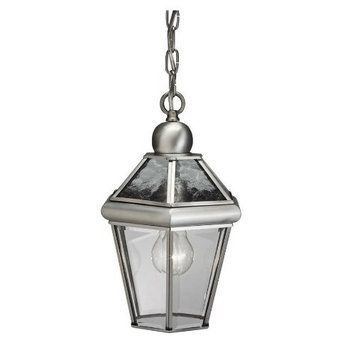 Portfolio 13.25-in Antique Pewter Outdoor Pendant Light 39335