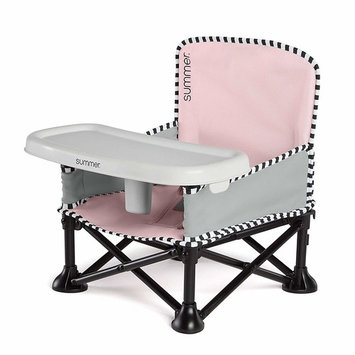 Summer Pop 'n Sit SE Booster Chair, Sweet Life Edition, Bubble Gum Color – Booster Seat for Indoor/Outdoor Use – Fast, Easy and Compact Fold [Sweetlife Edition]