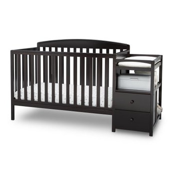Delta Children's Royal Fixed-Side Crib 'n Changer, Choose Your Finish