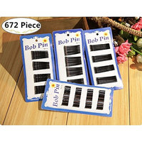 About 672 Piece Bobby Pins Set for Girl and Women, Carnatory Hair Pins U Pins Hair Clips Kit Hair styles Hair Extension for Ponytail Roller Curl Styling