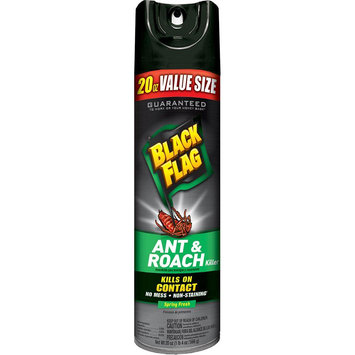 Black Flag Pest Control 20 oz. Spring Fresh Bonus Ant and Roach Killer Aerosol Spray HG-11064