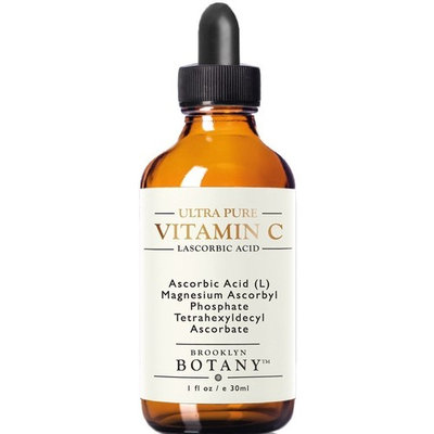Vitamin C Serum for Face - L Ascorbic Acid - Brooklyn Botany - Professional and Advanced Skincare - 5X Powerful Anti Aging Serum, Fight Age Spots, Acne, Dark Circles, Fine Lines and Wrinkles, 1 oz