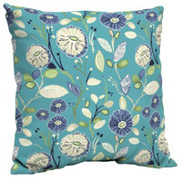 Arden Companies Mainstays Outdoor Patio Dining Pillow Back, Turquoise Floral