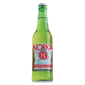 NORKA Premium 12oz Sparkling Beverages, Ginger Ale (Pack of 12 Glass Bottles) (Ginger Ale)