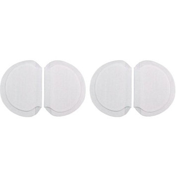 Disposable Underarm Absorbent Pads (2 Pairs, Regular) - Invisible & All Natural Defense Against Sweat Stains on Your Shirts