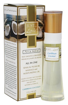 Just Pure Essentials - JUST Love All In One Sensual Pleasure Massage and Moisturizing Oil Caribbean Coconut - 2 oz.