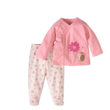 Rene Rofe Baby Newborn Girl Cardigan & Footed Pant 2pc Outfit Set