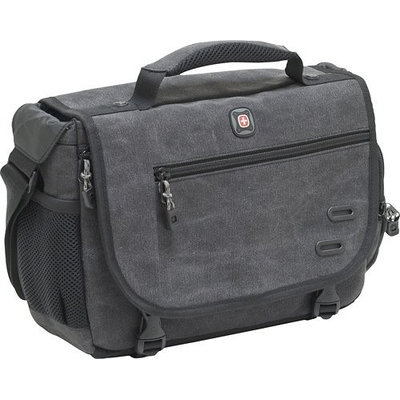 SwissGear - ZINC Messenger Digital SLR Camera Bag - Black