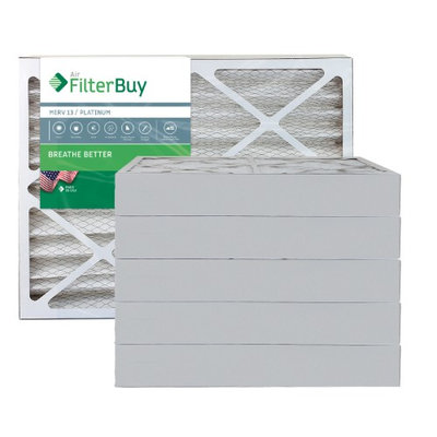 AFB Platinum MERV 13 24x28x4 Pleated AC Furnace Air Filter. Filters. 100% produced in the USA. (Pack of 6)