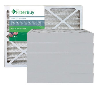 AFB Platinum MERV 13 20x30x4 Pleated AC Furnace Air Filter. Filters. 100% produced in the USA. (Pack of 6)