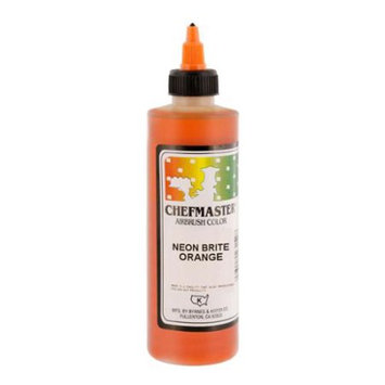 Chefmaster 9-Ounce Neon Brite Orange Airbrush Cake Decorating Food Color