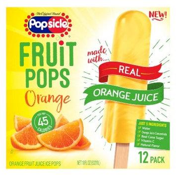 The Original Brand Popsicle Orange Fruit Pops - 12ct/18oz