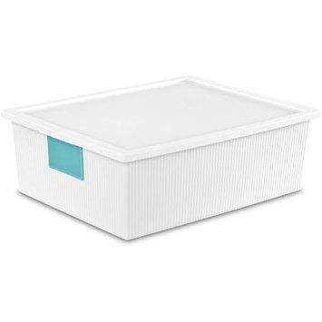 Sterilite Corporation Sterilite 26 Quart ID Box- White (Available in Case of 6 or Single Unit)