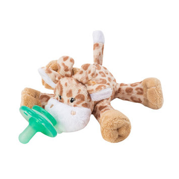 Nookums Paci-Plushies Buddies Brown Giraffe Pacifier Holder