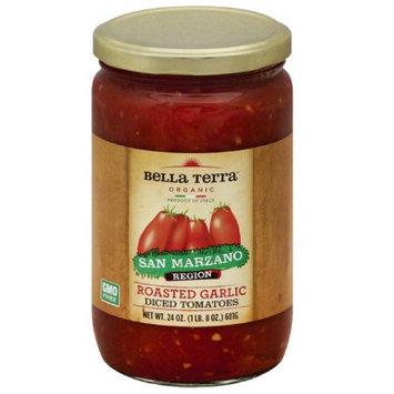 Bella Terra Organic Roasted Garlic Diced Tomatoes, 24 oz, (Pack of 6)