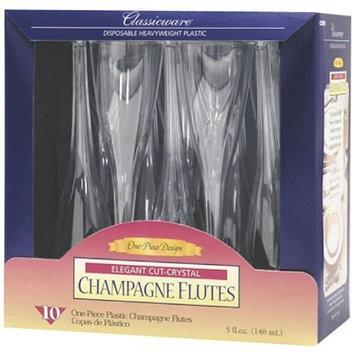 Classicware 1-Piece Plastic Champagne Glasses, 5 Ounce, Clear (60-Count)