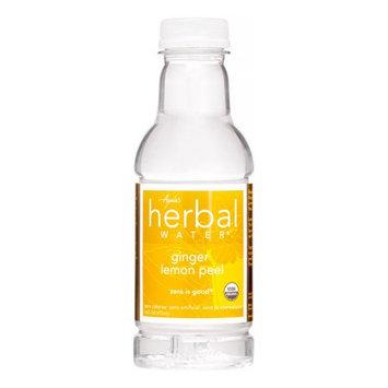 Ayalas Ayala's Organic Herbal Water - Lemon Ginger Peel - 16 oz - 12 ct