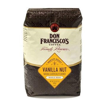 Don Francisco's Vanilla Nut, Medium Roast, Whole Bean Coffee, 32 oz. Bag