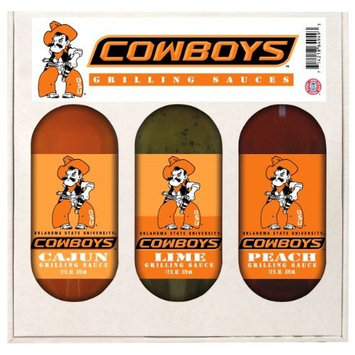 8 Pack OKLAHOMA STATE Cowboys Grilling Gift Set 3-12 oz