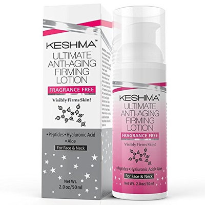 Keshima Face Neck Firming Cream - Fragrance Free - Tightens Loose and Sagging Skin - Smooths Wrink