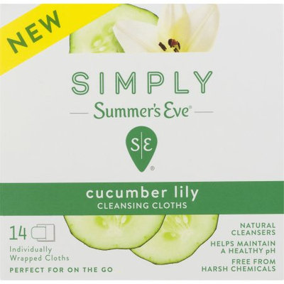 Medtech Simply Summer's Eve ® Cucumber Lily Cleansing Cloths - 14 CT