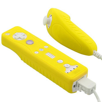 Fosmon Silicone Skin for Nintendo Wii Remote and Nunchuck (Yellow)