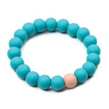 Bumkins Nixi Briesa Silicone Teething Bracelet, Turquoise