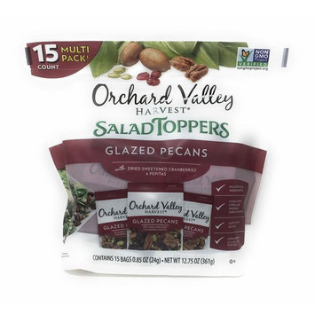 Orchard Valley Harvest Snack Packs - 15 Ct. Non GMO Project Verified, No Artificial Ingredients (Glazed Pecans)