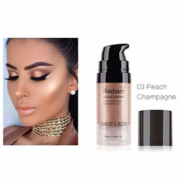 Pressed Highlighter Liquid Shimmer Long-lasting Smooth Glow Lip Foundation Makeup High Light Cream Facial Bronzer Concealer Cosmetic Single Color Highlighter Liquid