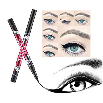 Baomabao 12pcs Makeup Eye Liner Waterproof Beauty Black Liquid Cosmetic Pencil