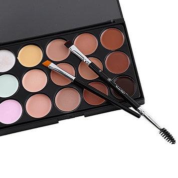 Makeup Brush, 2Pcs Professional Makeup Brushes Set Eyebrow Eyelash Brush Cosmetic Tools With Single Head Brush&Double Head Brush Types
