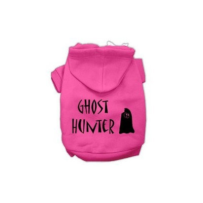 Mirage Pet Products Ghost Hunter Screen Print Pet Hoodies Bright Pink with Black Lettering XXXL (20)