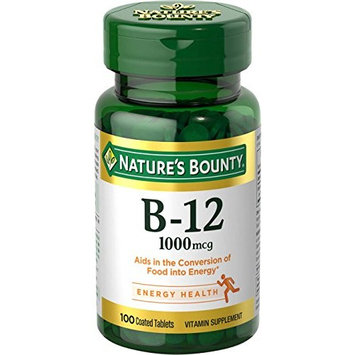 4 Pack - Nature's Bounty Vitamin B-12 1000 mcg, 100 Tablets Each