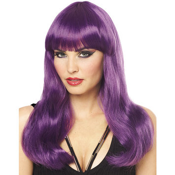 Mistress Long Straight Silky Glamour Costume Wig With Neat Bangs
