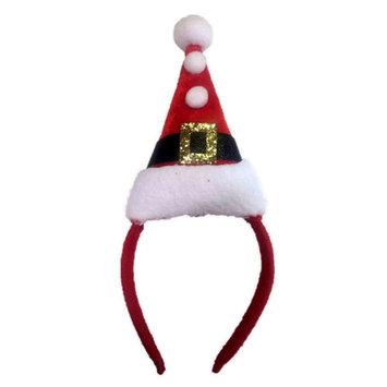 Forum Christmas Santa Suit Hat & Pom Poms Headband, Red White, One-Size