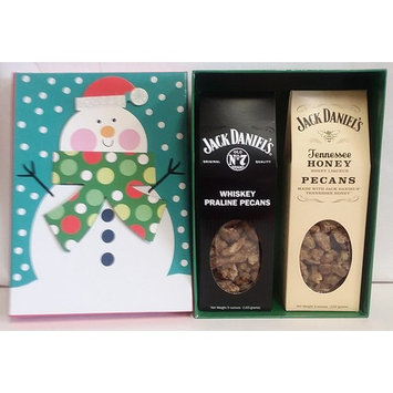 1- 5 0z. Each Jack Daniel's Whisky and Tennessee Honey Pecans for christmas includes christmas box