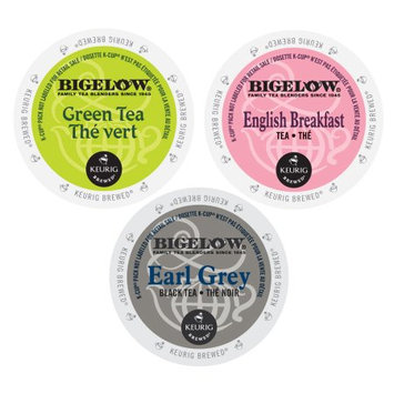 Green Mountain Bigelow Gift Pack of Flavored Teas, 3 Invigorating Flavors of Aromatic Teas, 72 Count