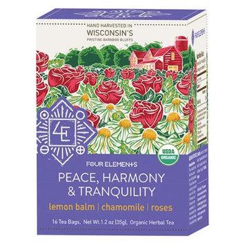 Four Elements Herbals - Organic Herbal Tea Peace Harmony Tranquility - 16 Tea Bags