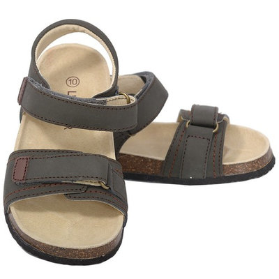 L'Amour Khaki Soft Footbed Strap Sandals Toddler Girls 7-10