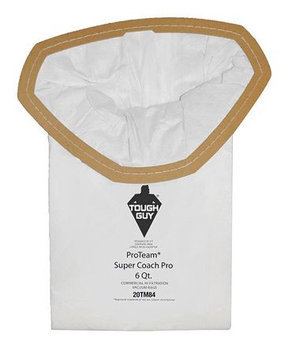 TOUGH GUY 20TM84 Filter Bag,2-Ply, Paper, PK10